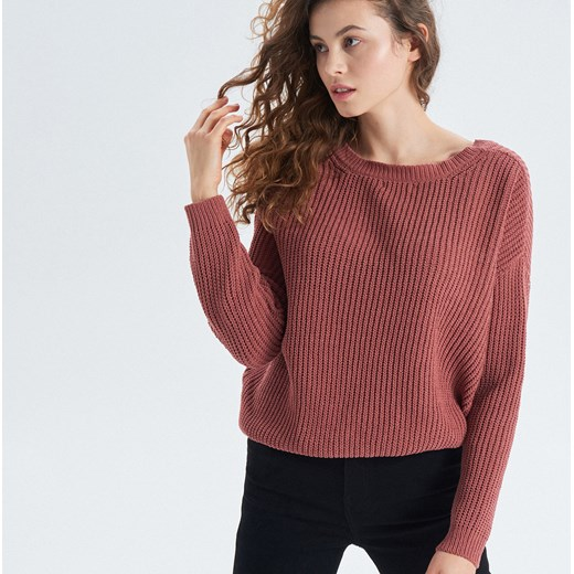 bcaddd7c4c0ebb Sweter damski różowy Cropp w Domodi