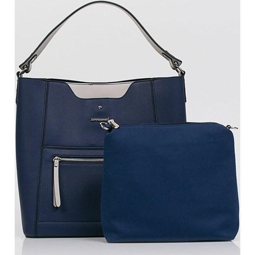 63dffcf1d254a Shopper bag Monnari bez dodatków niebieska elegancka duża w Domodi