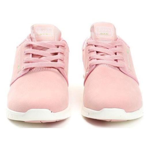 21a3e371ec58 ... Buty sportowe damskie Renee na fitness różowe sznurowane na płaskiej  podeszwie ...
