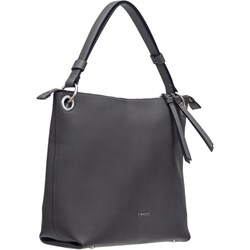 ec76edd79b688 Shopper bag czarna Puccini bez dodatków duża na ramię