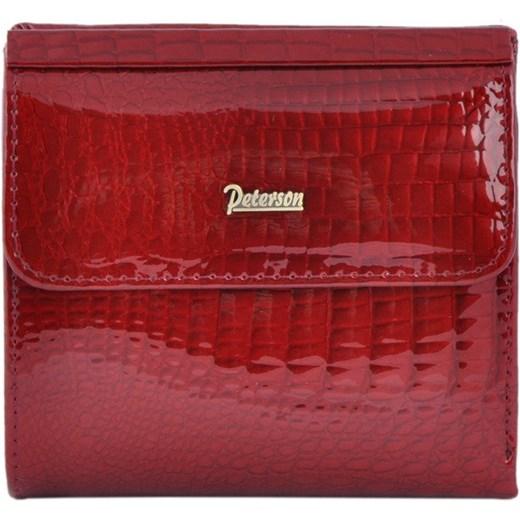 649587f8a478d Portfel damski Peterson czerwony elegancki w Domodi