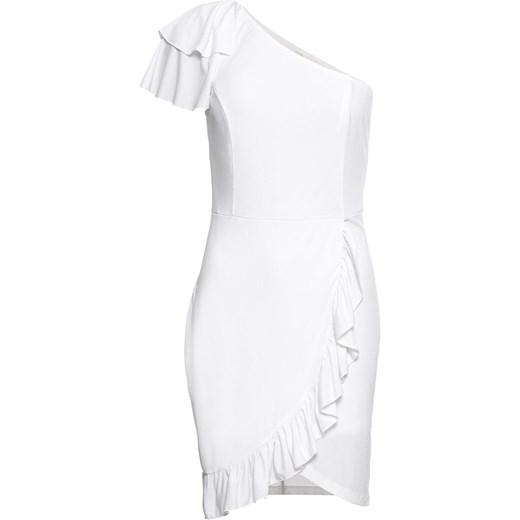 f236932c3c Sukienka Bodyflirt Boutique bez wzorów biała w Domodi