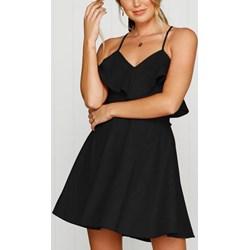 c3c127fbe0 Sukienka na imprezę trapezowa na ramiączkach poliestrowa mini