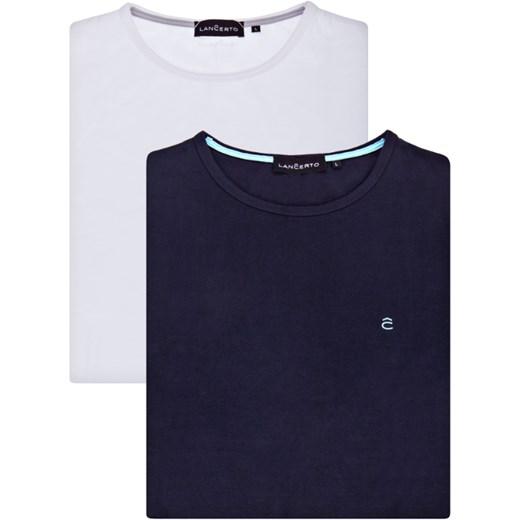 najlepszy T shirt męski Lancerto bez wzorów Odzież Męska PX