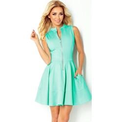 6a393955fd Sukienka zielona Numoco z dekoltem w literę v