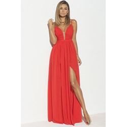 88d81691c3 Sukienka Lou na bal elegancka maxi bez wzorów