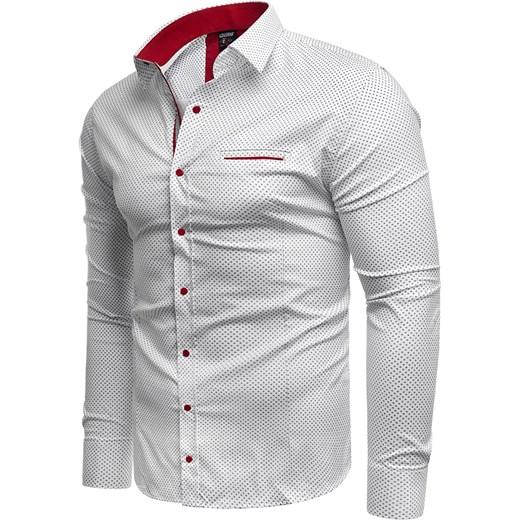 f19677ac531f Koszula męska Risardi casual biała w Domodi