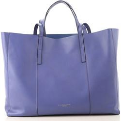 3e98e9406e2d3 Shopper bag fioletowa Gianni Chiarini na ramię casual bez dodatków matowa  mieszcząca a6 skórzana