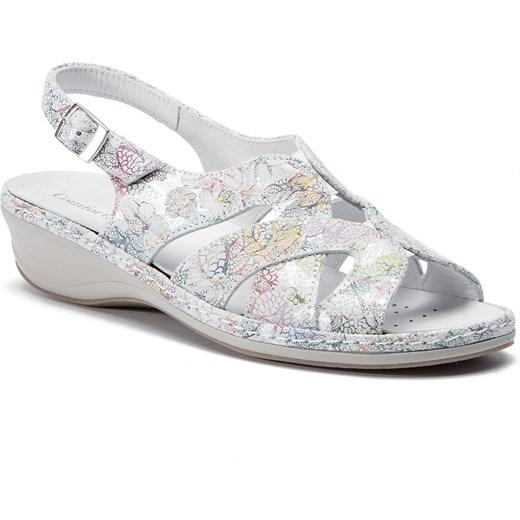Sandały damskie Comfortabel wielokolorowe na koturnie z klamrą Buty Damskie IO wielokolorowy Sandały damskie IVHD