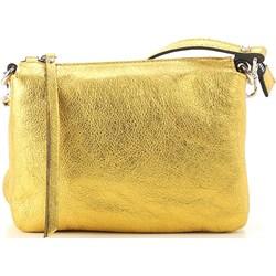 ed4a5e2531c75 Kopertówka żółta Gianni Chiarini ze skóry bez dodatków elegancka