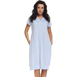 27ecfb37 Niebieska koszula nocna dla ciężarnych i karmiących Dorota niebieski  Astratex