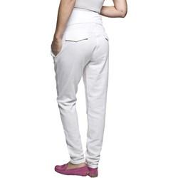 882d9f7aa6a8d4 Białe spodnie ciążowe, lato 2019 w Domodi
