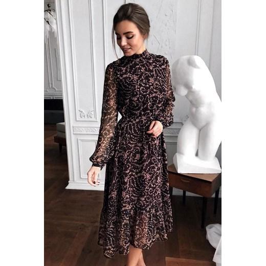 ab171424427f40 Sukienka wielokolorowa Ivet.pl z długim rękawem w Domodi