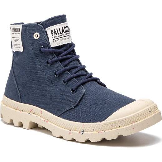 e88fe9ce Buty zimowe męskie Palladium młodzieżowe niebieskie sznurowane na zimę