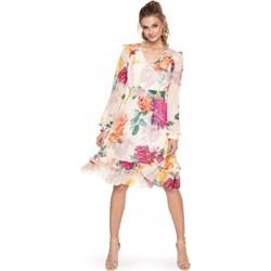 15b1d6c47d Sukienka L af tkaninowa na spacer midi