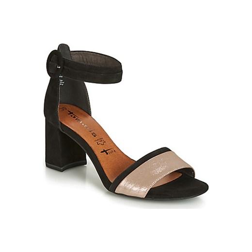 dobry Tamaris sandały damskie skórzane z klamrą gładkie Buty