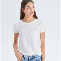 971292acc7 Bluzka damska Cropp biała z okrągłym dekoltem z krótkim rękawem