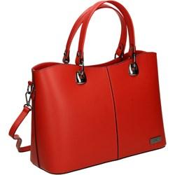 02e0bc79a163b Shopper bag Venezia średnia glamour bez dodatków do ręki matowa