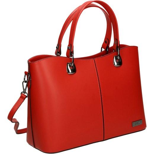 3bf5064b2233a Shopper bag Venezia bez dodatków skórzana matowa średnia glamour w ...