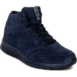 0b165bc19d044 Buty sportowe damskie Big Star sneakersy w stylu młodzieżowym sznurowane  skórzane bez wzorów