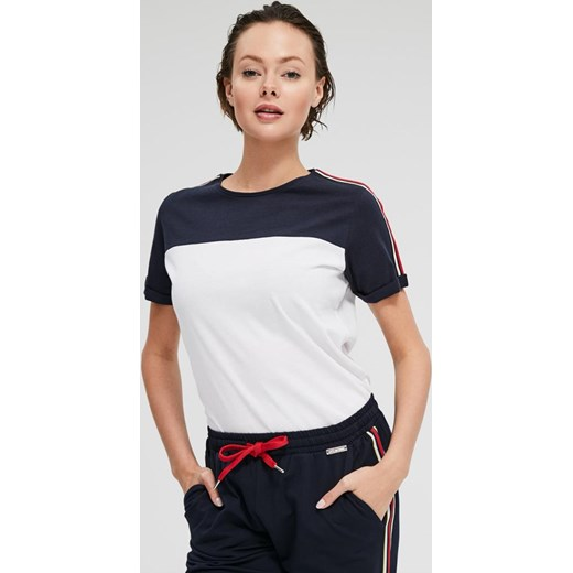 Bluzka damska Diverse bez wzorów z krótkim rękawem Odzież
