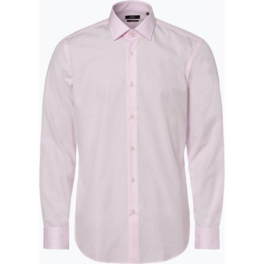 14e65c58dbbbf Koszula męska różowa Boss elegancka z długimi rękawami w Domodi