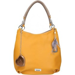 61262b84e0df4 Shopper bag Chiara Design na ramię duża z breloczkiem