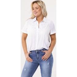 cb79a22849b6 Koszula damska Born2be z kołnierzykiem elegancka biała bez wzorów