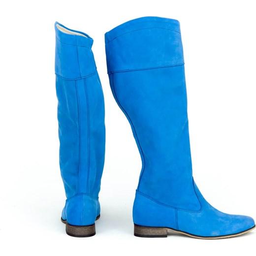 bcbbcf0987ec ... Kozaki damskie Zapato bez zapięcia z nubuku zimowe ...