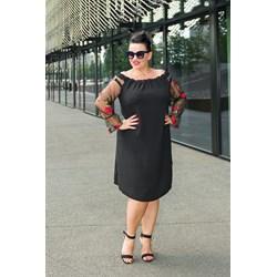 3d99a03b5a Sukienka z długim rękawem dla puszystych