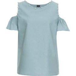 db42a1c2d40e Niebieskie bluzki damskie bodyflirt krótki rękaw
