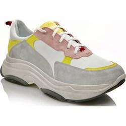 ff309a396cee Sneakersy damskie Nessi wielokolorowe sznurowane jesienne