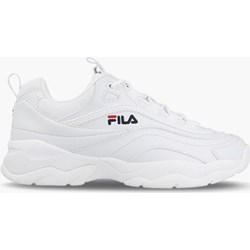 07eade237e8eb Buty sportowe damskie Fila do fitnessu białe sznurowane płaskie bez wzorów