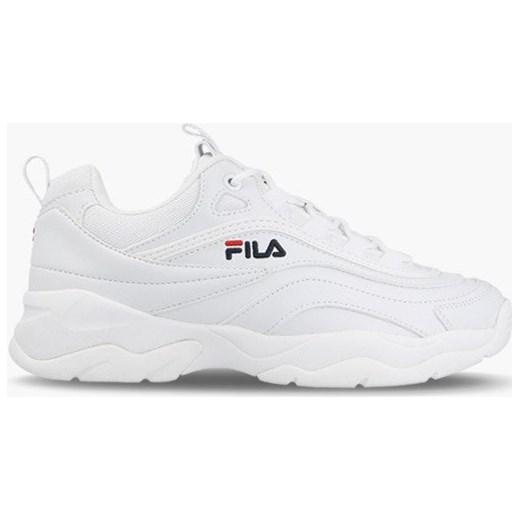 Buty sportowe damskie Fila do fitnessu białe sznurowane płaskie bez wzorów