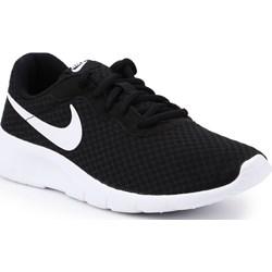 99fe9eba Buty sportowe damskie Nike tanjun czarne sznurowane na wiosnę gładkie