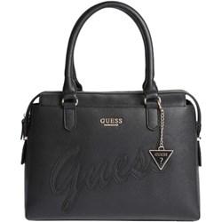 7004017160a80 Shopper bag Guess elegancka z breloczkiem granatowa matowa