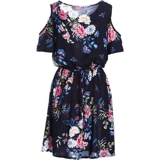b1591f111b ... Sukienka Born2be prosta mini z okrągłym dekoltem z krótkim rękawem na  spacer ...