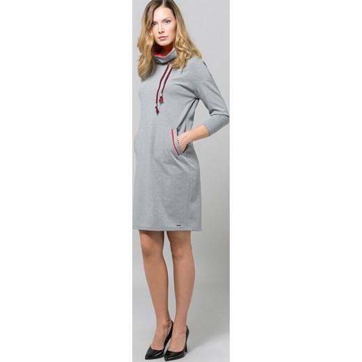a74ca43f16 Sukienka Monnari na co dzień midi prosta z długim rękawem sportowa w ...