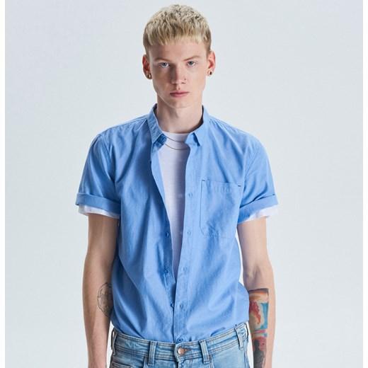 78259be0af800d Cropp - Koszula z krótkim rękawem basic - Niebieski Cropp M ...