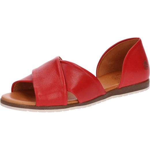 Sandały damskie Apple Of Eden na platformie bez wzorów skórzane Buty Damskie OD czerwony Sandały damskie NZVC