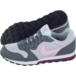 05e2fbf3 Buty sportowe damskie Nike md runner szare sznurowane skórzane bez wzorów