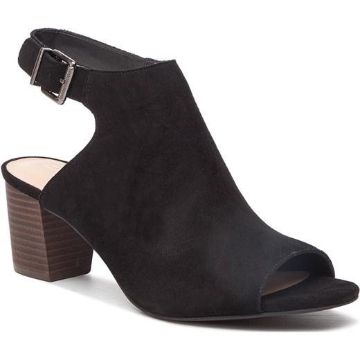 Sandały damskie Clarks z tworzywa sztucznego bez wzorów Buty Damskie GT czarny Sandały damskie ABQB