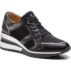 4b52edd7f50e71 Sneakersy damskie Wojas czarne zamszowe gładkie ...