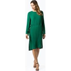 55da370460 Sukienka Minimum na spotkanie biznesowe zielona z okrągłym dekoltem midi