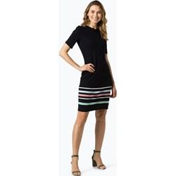 860bf3f855 Sukienka Esprit z okrągłym dekoltem granatowa na spotkanie biznesowe z  krótkim rękawem