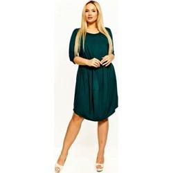9ff4cae0c9 Sukienka zielona Bomo Moda z długim rękawem oversize owa
