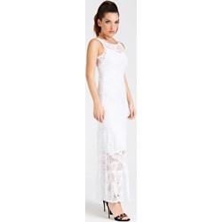 ba3e4a0ef1 Sukienka Guess elegancka koronkowa bez rękawów z okrągłym dekoltem na lato