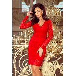 2fa553478431 Sukienka Saf midi z długim rękawem prosta
