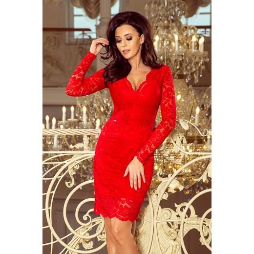 335ecca4e0 Sukienka Saf midi z długim rękawem prosta w Domodi