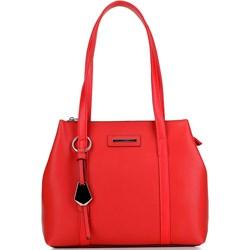 e46c835e7faa1 Czerwona shopper bag Wittchen z breloczkiem ze skóry ekologicznej